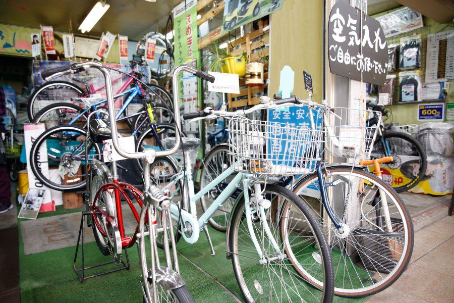 シティーサイクルからスポーツバイクまで完備