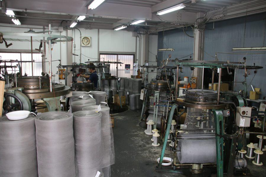製網加工から成型まで一貫生産