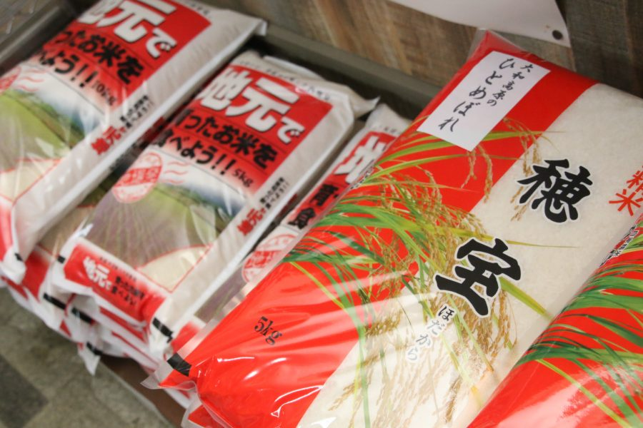 扱うお米の約半数は奈良県産